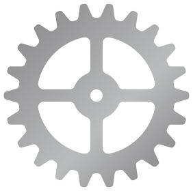 歯車・ギア ベクターアイコンイラスト(シルバー)