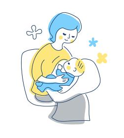 授乳中のママ