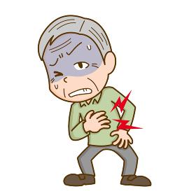 心臓が痛むシニア男性