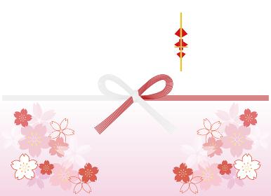 花柄つき のし紙