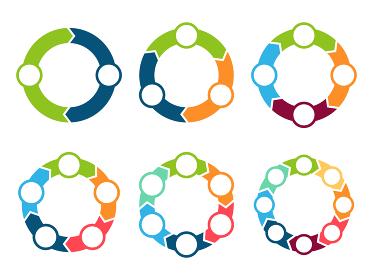 矢印 循環 輪