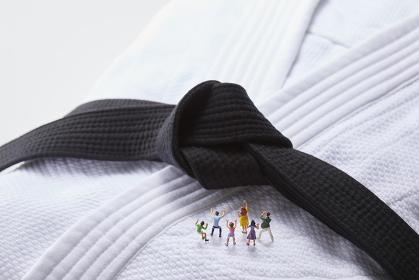 フィギュア 柔道を応援する観客