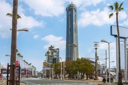 下関中心街と海峡ゆめタワー
