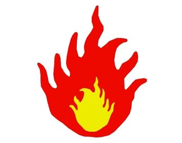 火が強い焚火の素材