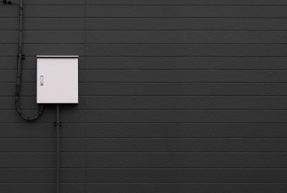 御盤 電気メーター 黒い壁 3281
