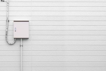 制御盤 電気メーター 白い壁 3281