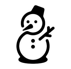 雪だるま スノーマン 冬 雪 アイコン