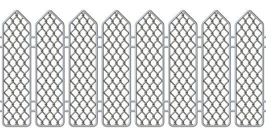Seamless steel fence 3D