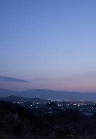 甘樫丘展望台から見る葛城山