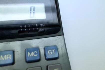 電卓の数字のイメージ素材