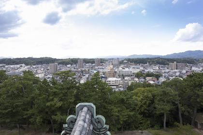 松江城天守閣からの眺望(西向き)