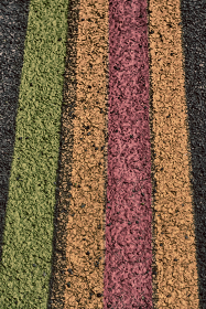 in  australia the line in the asphalt of an airport floor for the right way