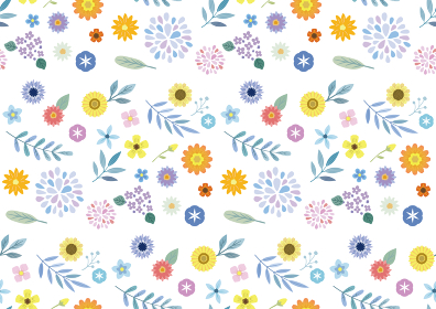 花の背景イラスト 白
