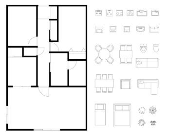 マンション・住宅の間取り図レイアウトセット