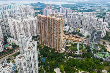 Tin Shui Wai, Hong Kong, 26 August 2018:- Apartment building in Hong Kong