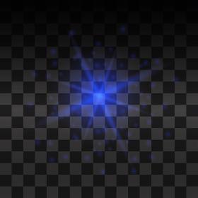 Blue vector glow light effect.