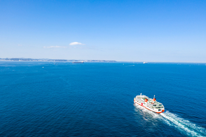 久里浜港に向かう東京湾フェリー