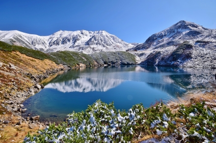 初冬の立山連峰・みくりが池