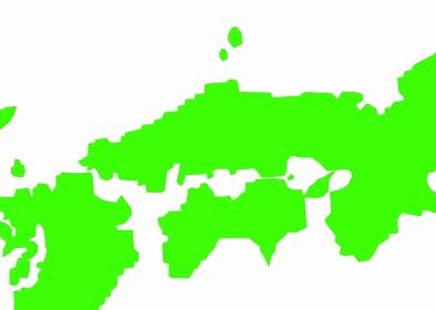 中国・四国地方の日本地図