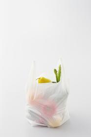 買い物袋に入った野菜