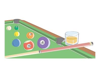 ビリヤード風景(ウイスキー)