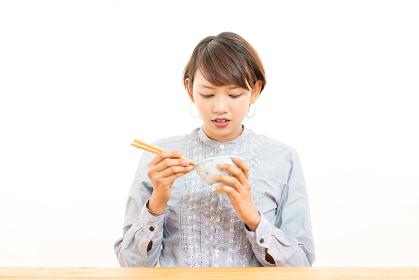 日本食・いただきます・女性