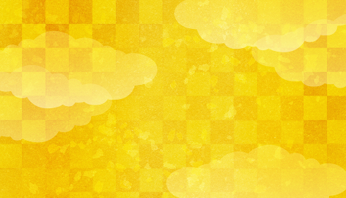 金色の日本の和風柄