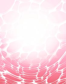 フレーム 光に照らされた水面 ピンク