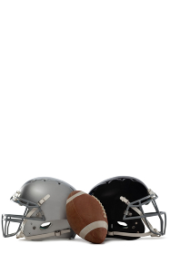 American football with helmets