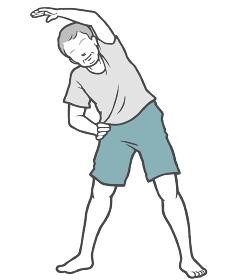 ラジオ体操 中年男性 ストレッチ 室内