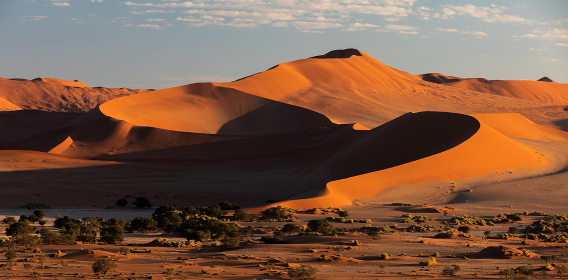 beautiful landscape Hidden Vlei in Namibia, Africa