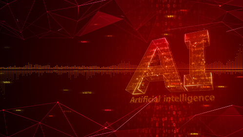 AI 人工知能 テクノロジー ネットワーク データ コンピュータ 情報 3Dイラスト 背景 バック
