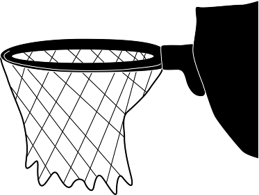 バスケットボールのゴール「シルエット素材」