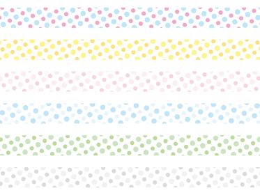 カラフルなドットパターン 仕切りテープ