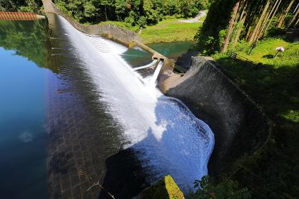 日本一美しい白水ダム 全体