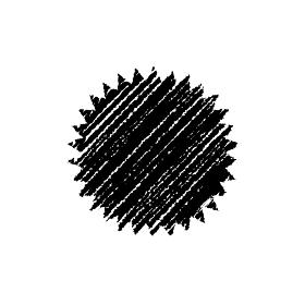 チョークで描いたような図形/アイコン(吹き出し・びっくりマーク)