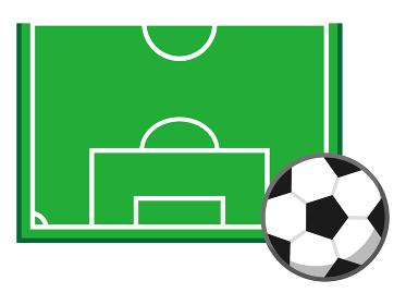 サッカーフィールド反面とサッカーボール1