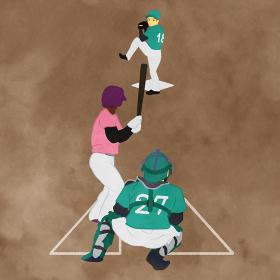 野球試合のシーンのイラスト01