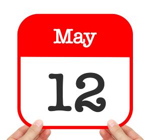May 12 written on a calendar