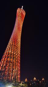 広州タワー、ライトアップ、中国