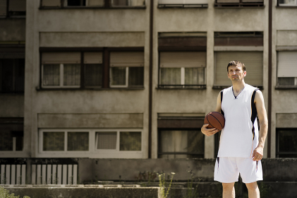 basketball player at the street