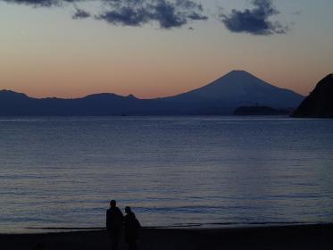 逗子海岸からの富士山