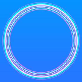 夏の空に虹が輝いているイメージの背景イラスト