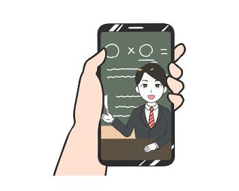スマホ オンライン授業 男性