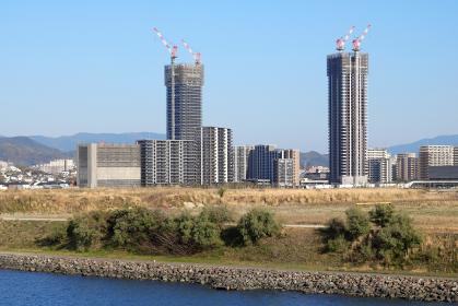 開発の進む福岡県福岡市のアイランドシティ 2021年3月