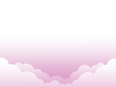 背景素材 空 風景 雲なし ピンク