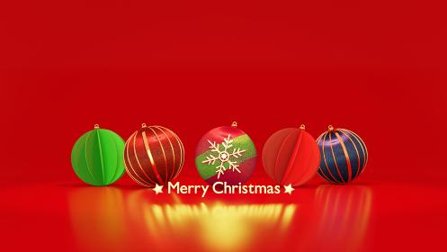 メリークリスマス オーナメント 3DCGポスター