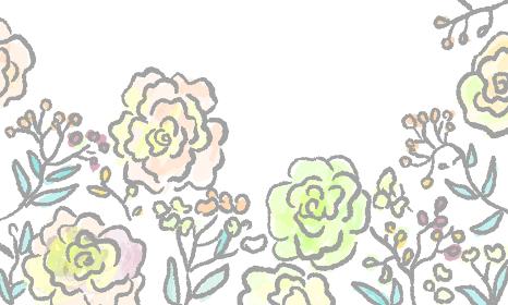 free hand drawing flower illust