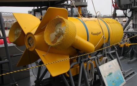 掃海艇「くめじま(除籍)」の、S-7(1形)機雷処分具