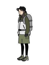登山の服装 女性